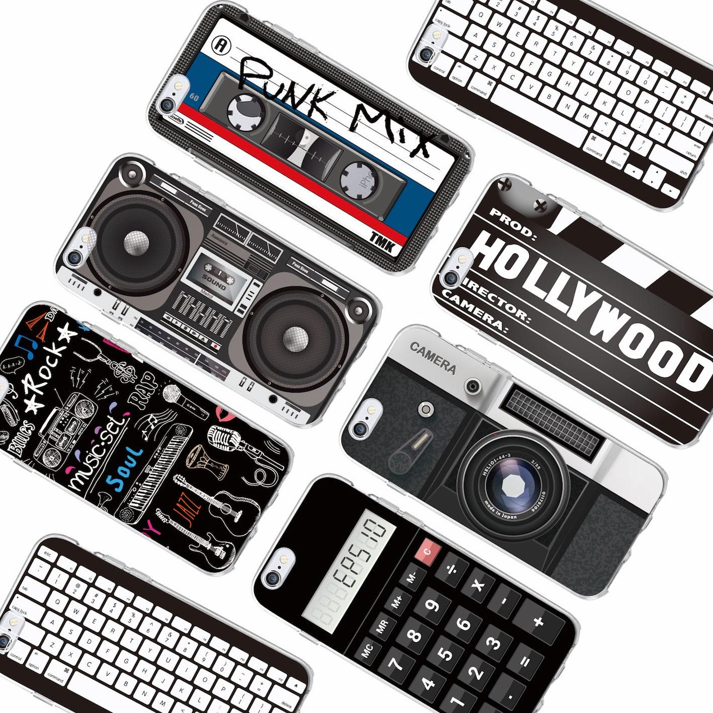 Для iPhone 11 Pro 6 6S 7 7Plus 8 8Plus X XS Max Ретро кассеты для камеры Boombox Calculator клавиатура мягкий чехол для телефона Fundas