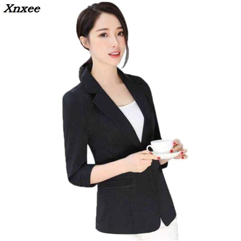Damas Blazer Feminino de talla grande 6XL chaqueta Formal de las mujeres blanco Blazer mujer traje de las señoras de la Oficina chaqueta ol Formal Xnxee