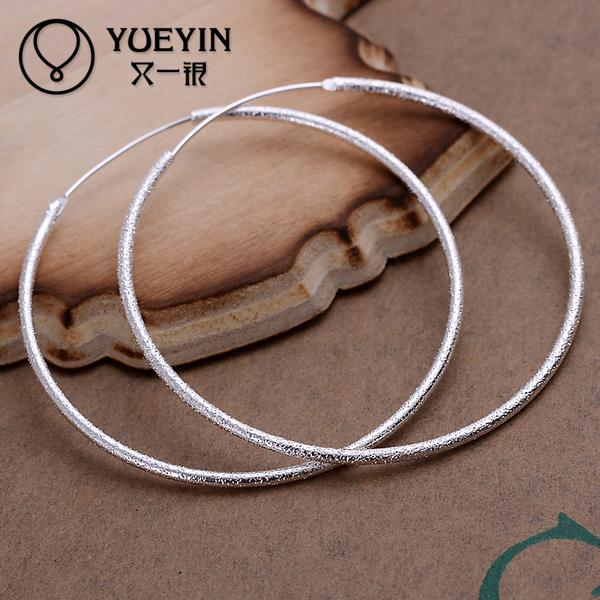 Женские серьги-кольца с серебряным покрытием, модные ювелирные украшения для ушей, аксессуар