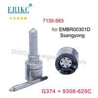 ERIKC שסתום 9308-625C זרבובית G374 (L374PBD) דיזל מזרק תיקון ערכות 7135-583 עבור סאנגיונג Euro5 EMBR00301D A6710170121