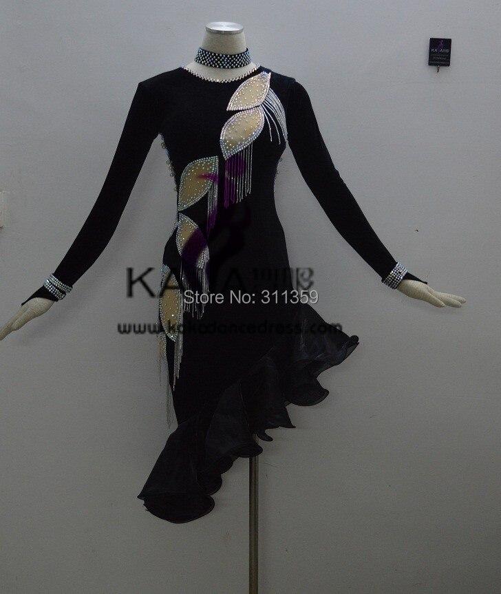 Nouveau Style! KAKA-L140221, Femmes Latin Dance Wear, Fringe Salsa Dress Tango Samba Rumba Chacha Dress, Latine danse Dress à vendre
