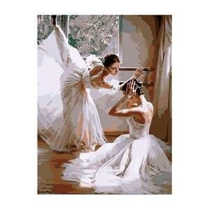 5D алмазная живопись «сделай сам», две балерины, бриллиантовая вышивка, полная вышивка крестиком, мозаика, домашний декор, подарок