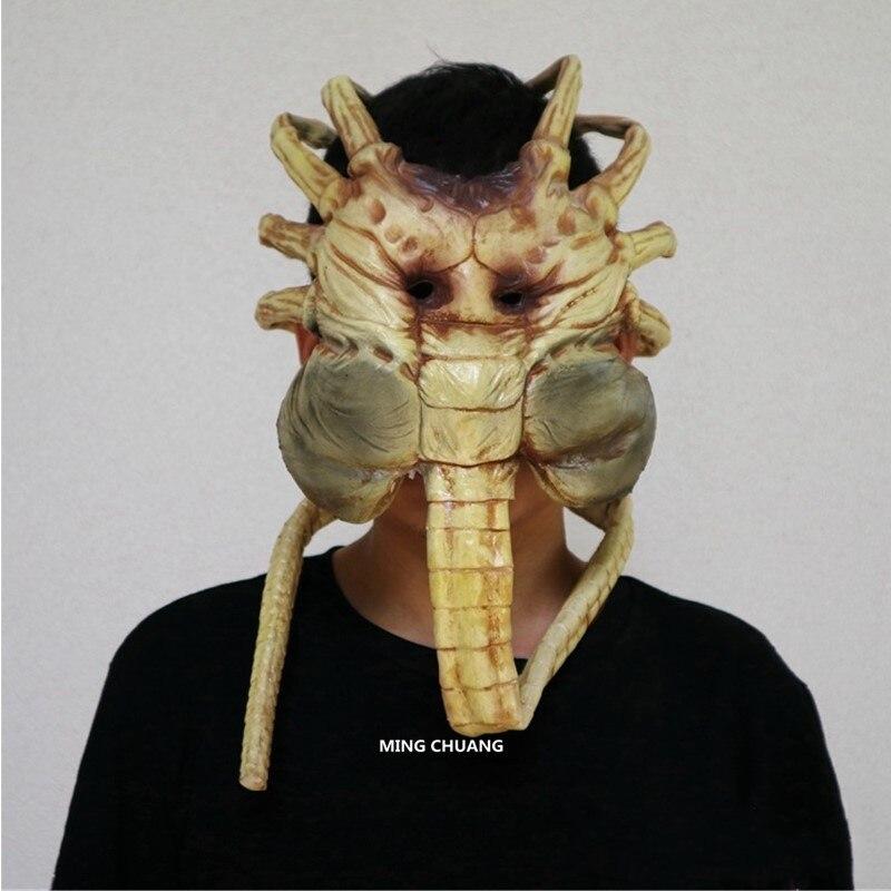 Aliens vs Predator-Requiem máscara Facehugger 11 (tamaño real) tapa de retención AVP figura de acción juguete de modelos coleccionables OPP D615