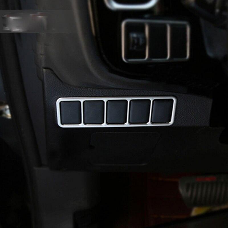 Para Mitsubishi Outlander 2016 2017 Chorme cubierta de interruptor de botón de Control de maletero Interior de coche protectores de moldura mate