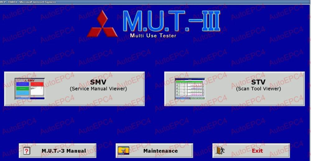 M.U.T-III PRE 20011-00 [01,2020] Software de diagnóstico para Mitsubishi