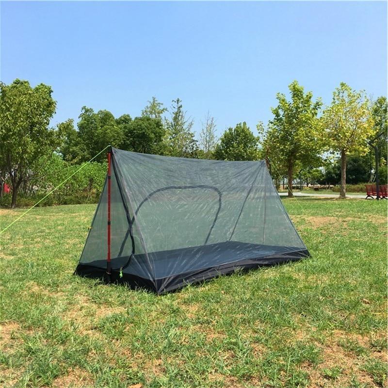 Ultralight Summer Mesh Tent 1-2 Person Outdoor Camping Tent Rodless A Shaped Inside Tent Portable Beach Tent 210x120x110cm