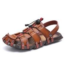Neue atmungs sandalen sommer männer schuhe casual schuhe outdoor strand hausschuhe mode nicht-slip sandalen hohe qualität im freien sand