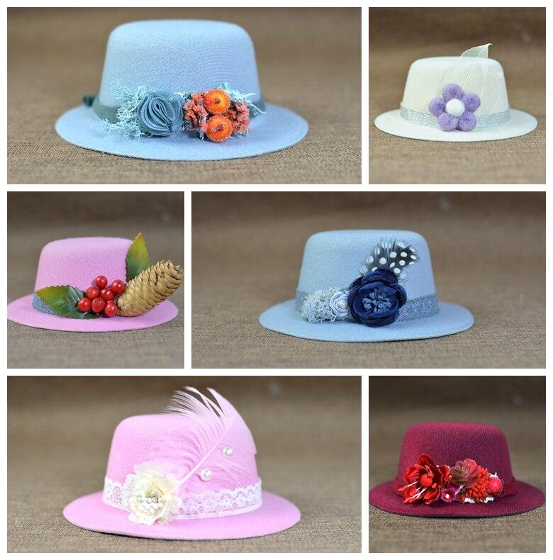 Шапка принцессы для девочек с разноцветными цветами, креативным цветком и травой, оригинальная фотография для новорожденных, милая шляпа д...