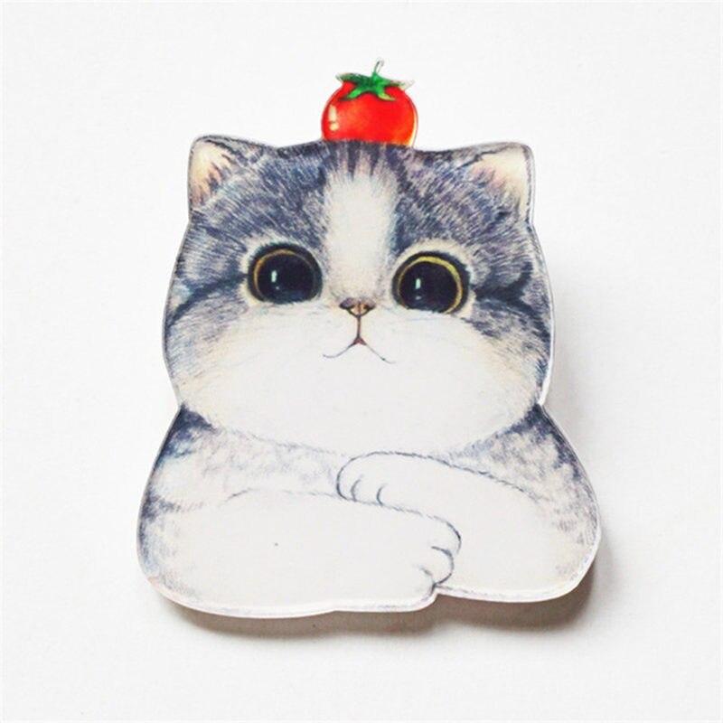 1 pçs legal adorável gato harajuku kawaii dos desenhos animados animal broche pino acrílico anime emblema packback roupas ícone broches presentes de festa
