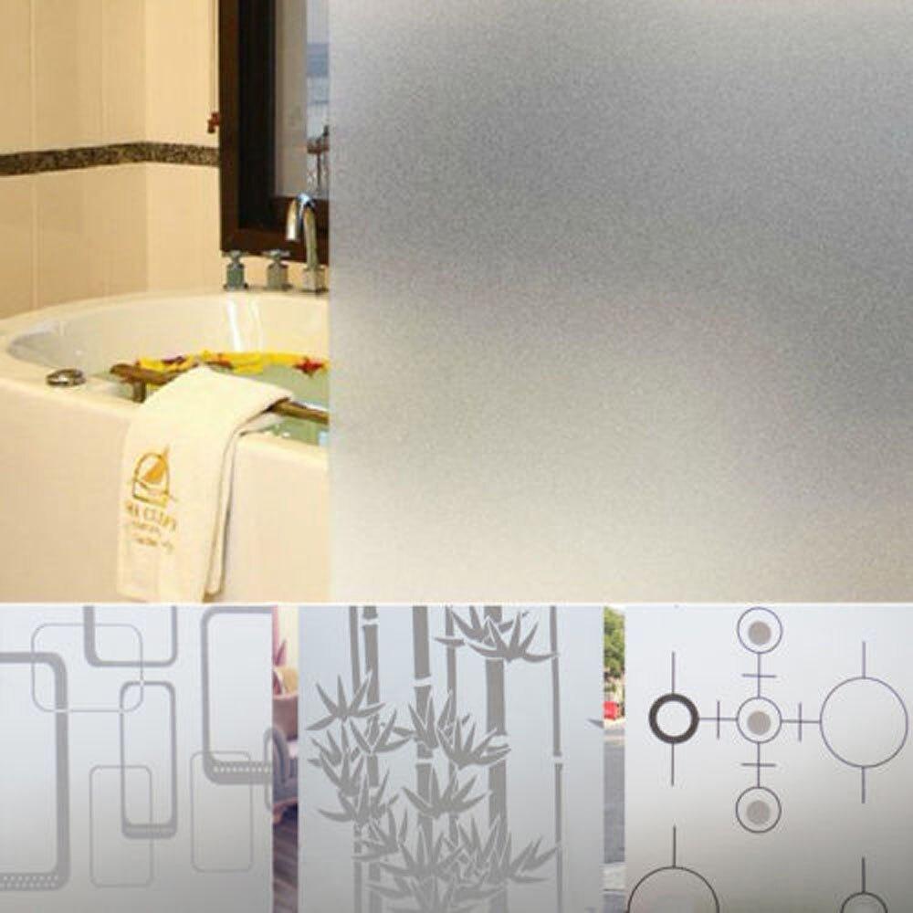 Película de PVC esmerilado de seguridad escarchado DE PRIVACIDAD puerta ventana de cristal, pegatina para dormitorio, baño, decoración del hogar 2m