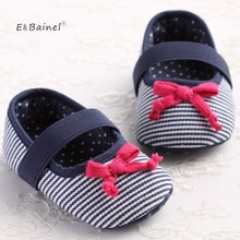 Brand Children Baby Kids Girl Shoes Anti-Slip Striped Butterfly Knot Toddlers First Walkers Newborns