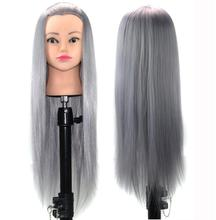 Tête de Mannequin 60cm   Pratique coiffure synthétique, formation de la coiffure, tête de Mannequin dentraînement