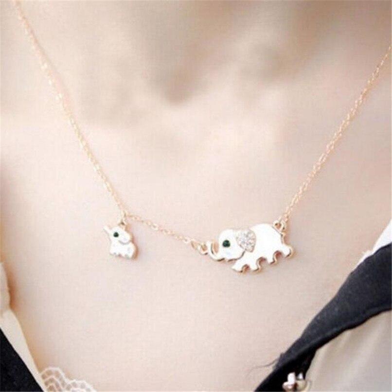 Joyería lusion lujo elefante de la suerte gargantilla collar mujer Bohemia Boho grueso colgante collares accesorios venta al por mayor