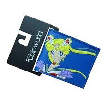 JP Anime Sailor Moon Bourse Cadeau Fille Belle Sailor Moon bande dessinée Portefeuilles Dollar Prix Titulaire de la Carte Sacs Femmes PVC Court portefeuille