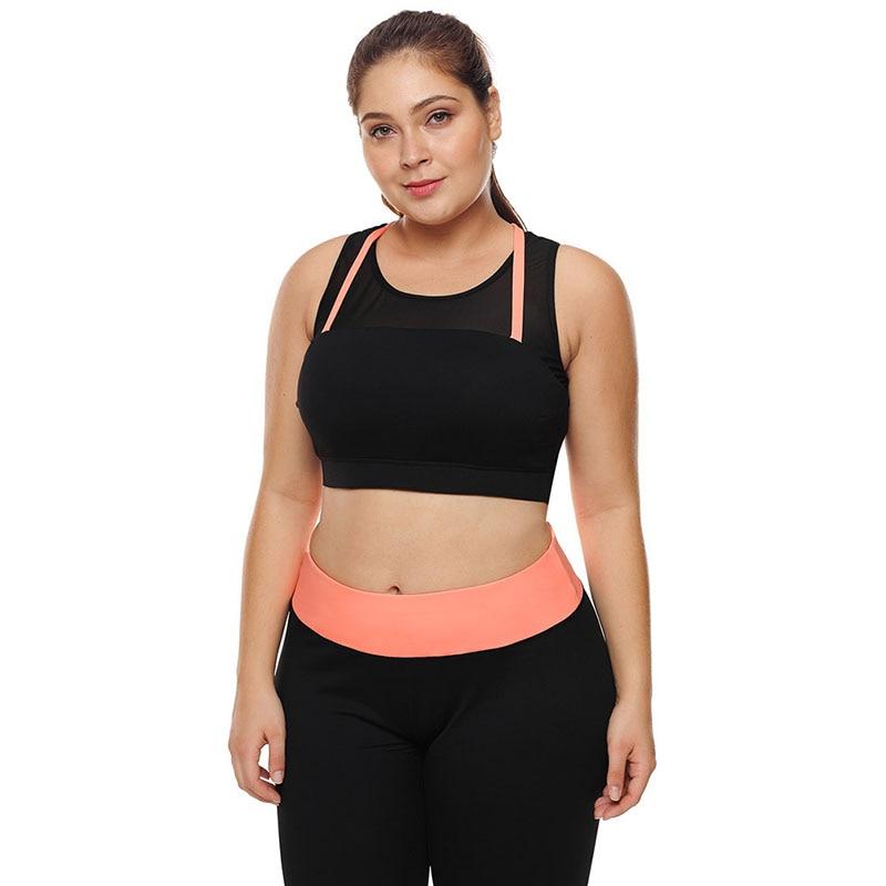 Sanderala, moda para mujer, chaleco de talla grande para gimnasio, deportes, Fitness, Running, Yoga, Camiseta ajustada con Sujetador Push Up, ropa interior femenina