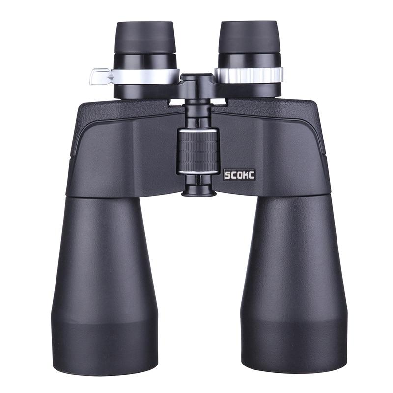 SCOKC High Power Zoom 10-25X60 power zoom Binoculars BAK4 for hunting professional monocular telescope high quality telescope