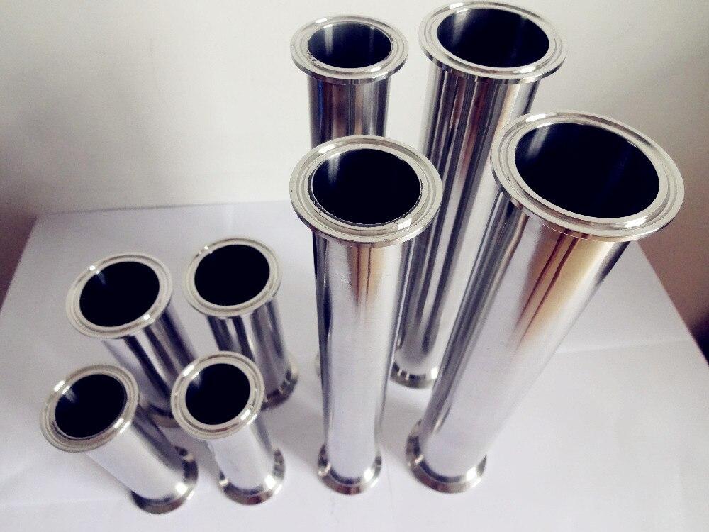 Гигиеническая трубка/труба с тройным клевером od77,5 2,5 дюйма (63 мм), длина 20 дюймов (500 мм), толщина тройного зажима 2 мм
