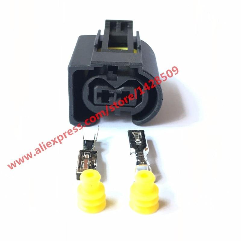 20 Sets 2 Pin Auto sellado 09441261 Kosta hembra conector 09 4412 61 0 carcasa impermeable para VW BMW