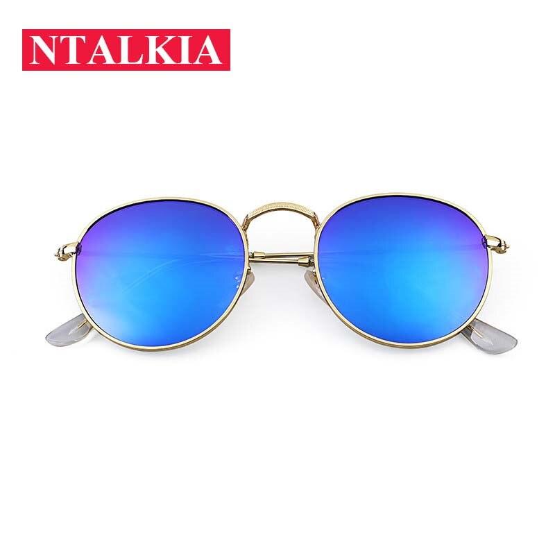 2018 Retro Round Sunglasses Women Men Brand Designer Sun Glasses For Women Alloy Mirror Sunglasses R