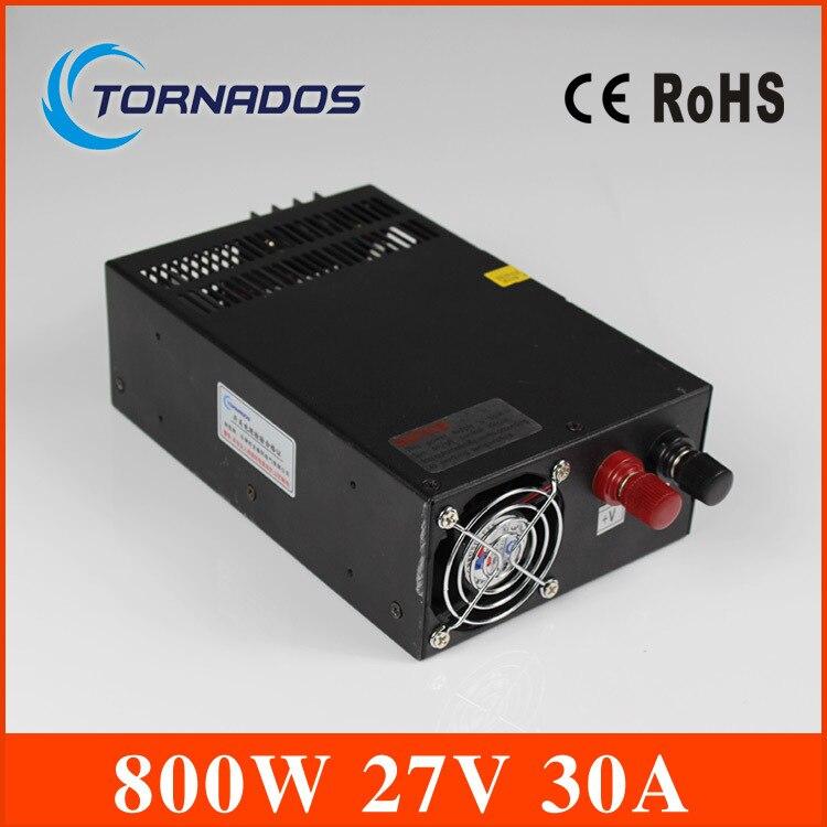 Fuente de alimentación 27v 800w ac a dc fuente de alimentación ac dc convertidor de entrada 110v 220v salida 27v interruptor industrial LED controlador