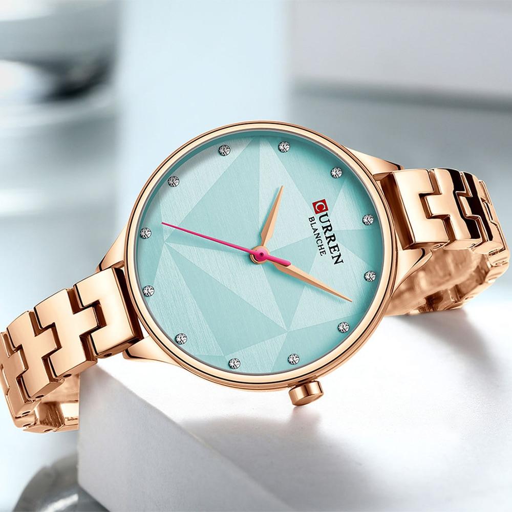 CURREN Classy Quartz Watches Women Creative Design Wristwatch with Stainless Steel Female Clock Ladies Dress Bracelet Watch enlarge