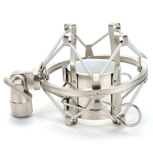 Soporte de micrófono de Metal plateado PLA soporte de micrófono con tornillos