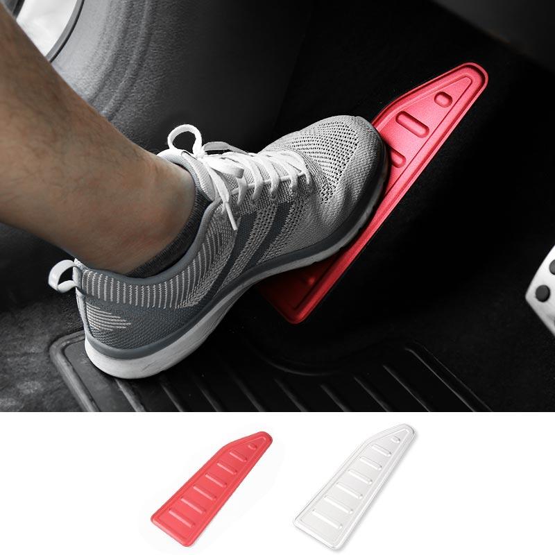 MOPAI, placa de apoyo de Pedal izquierdo de aluminio, decoración de pegatinas interiores, accesorios para Jeep Renegade 2015-2016, estilo de coche