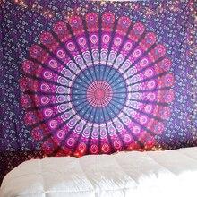 Handmade Chiffon Indian Mandala Tapestry Hippie Home Decor Wall Hanging Boho Beach Towel Yoga Mat Bedspread Table Cloth Yoga Mat