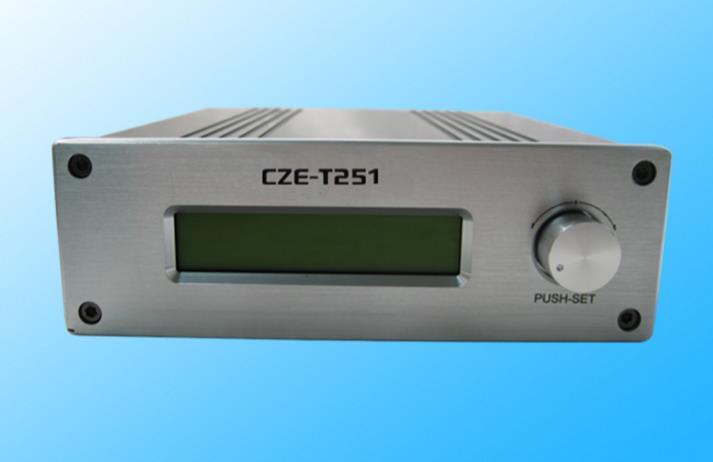 Transmisor FM CZE-T251 transmisor FM 0-25W ajustable 87-108MHz estación de transmisión PLL Mono Stereo