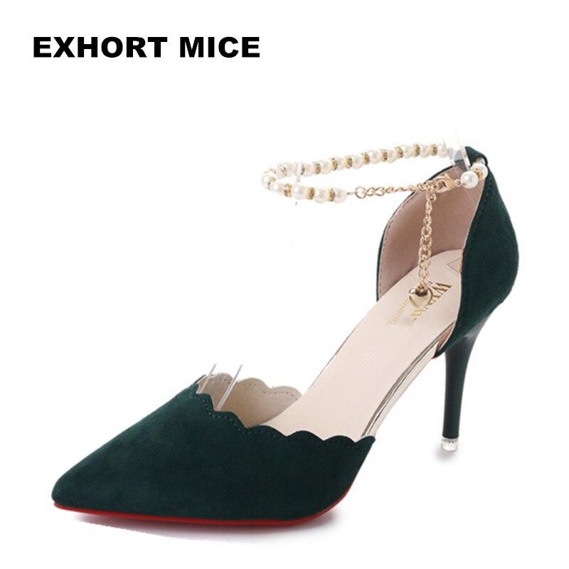 Zapatos de tacón alto, moda femenina, sexy, calado con sandalias, verano 2019, versión coreana, de los zapatos finos transpirables, bombas de mujer #1