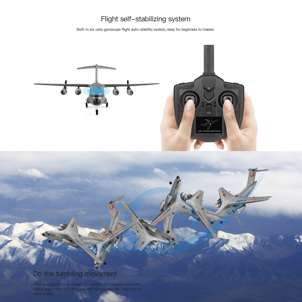 EPP Aircraft RC Airplane 3 Channels 2.4Ghz Remote Control Airplane Kids Toy Gifts NSV775