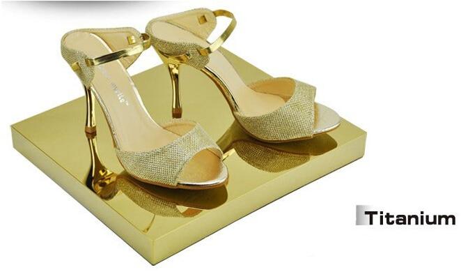 Titanium Metal boutique shoes showing display sandals shoes display stand shoe holder keeper rack shoes holder rack