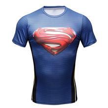 Zomer 4 Stijl Superman/Captain America T-shirt 3D Gedrukt Compressie T-Shirt Mannen Fitness Kleding Mannelijke G ym Tops & Tees