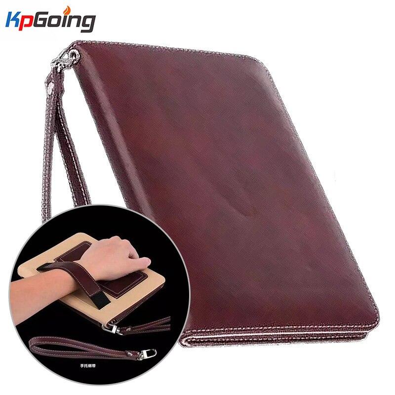 Funda de cuero Pu de negocios de tarjeta de cordón para Ipad Mini 2 Handhold Case para IPAD Ipad Mini 3 Flip Stand Tablets Funda