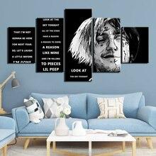 Affiche de peinture musicale moderne 5 pièces   Affiche de peinture HD murale, célèbre personne, décor de maison pour salon