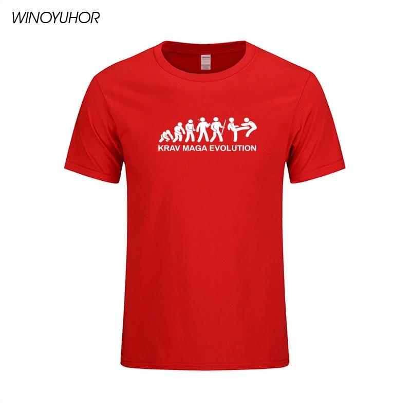 Krav Maga-Camiseta Popular para hombre, Camiseta de algodón con cuello redondo y...