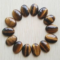 wholesale 30pcslot high quality natural tiger eye stone oval cab cabochon beads for jewelry accessories making 18x25mm free