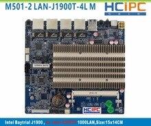 HCiPC M501-2 LAN-J1900T-4L BayTrail J1900 4LAN ITX Moederbord, Multi LAN Firewall Moederbord, Router Firewall Systeem, Server PC