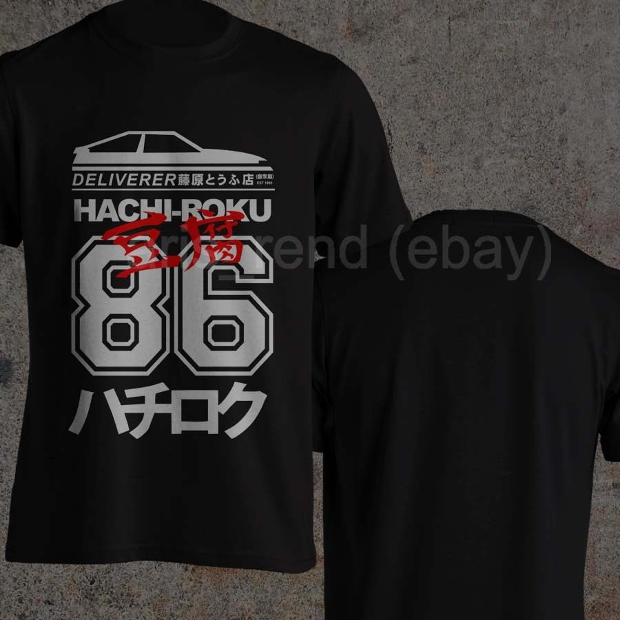 Takumi Fujiwara tienda de Tofu Libertador Ae86 inicial D Manga Hachi Roku Jdm camiseta diseño Tops camisetas de verano de los hombres de Hip Hop