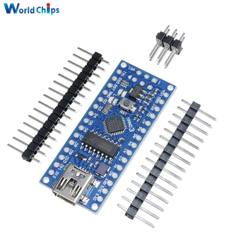 Плата ATmega168 CH340 CH340G Nano V3.0 3,0 Mini USB UART, пла�