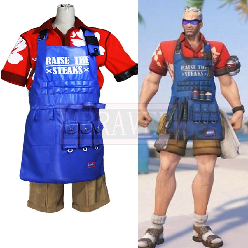 Jogo ow soldado 76 jack morrison jogos de verão pele cosplay traje uniforme de halloween roupa feita sob encomenda qualquer tamanho
