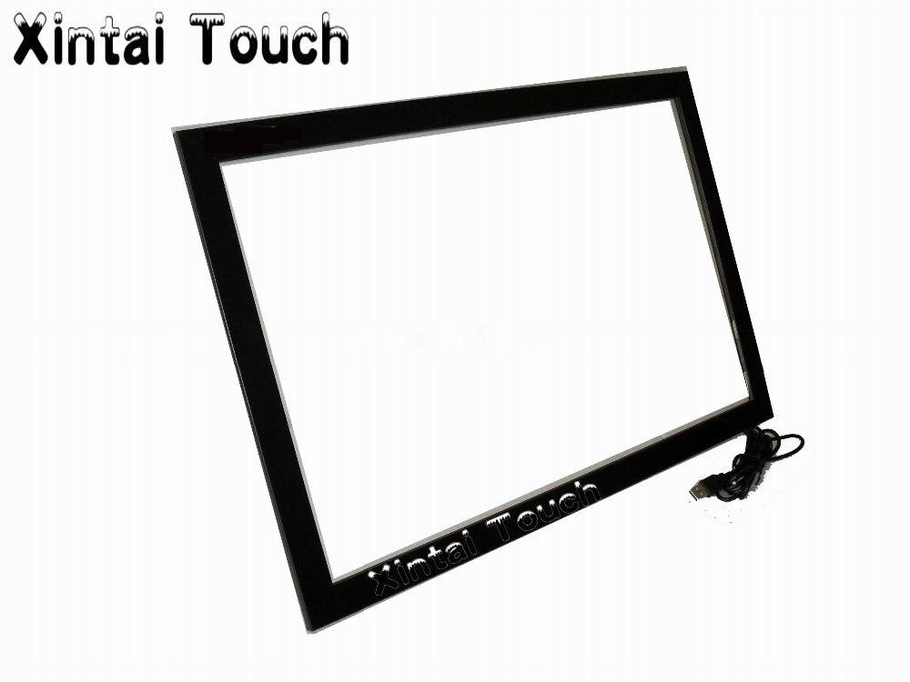 Xintai Touch 46 بوصة الأشعة تحت الحمراء متعددة إطار الشاشة التي تعمل باللمس مع 4 نقاط اتصال نسبة 16:9
