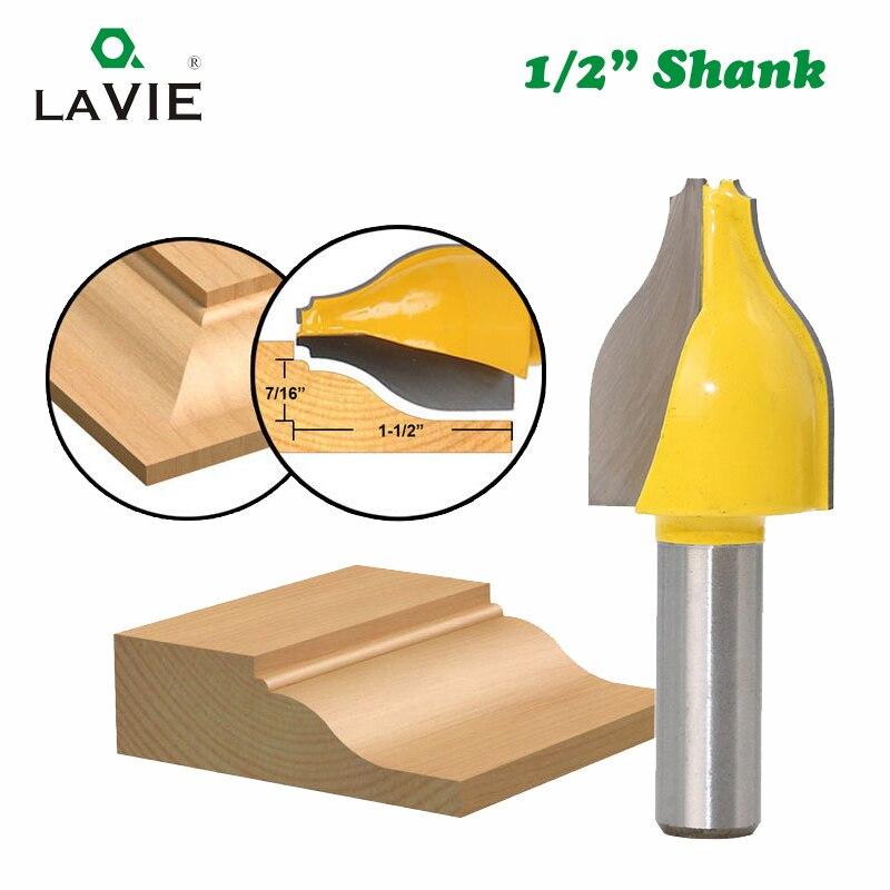 Lave, 1 unidad, 12mm, 1/2 vástago, elevado Panel Vertical, enrutador de cuentas Ogee, fresa de línea de puerta de madera para herramientas de madera MC03146