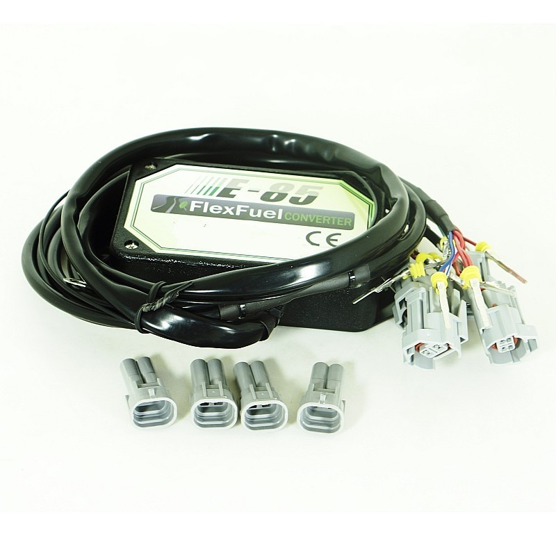 4cyl 6cyl 8cyl E85 conversion kit Flex Fuel ethanol alternative fuel with Cold Start Asst. connectors available for EV1, EV6 enlarge