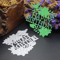 azsg happy birthday cutting dies clear stamps for diy scrapbookingcard making decorative silicone stamp crafts