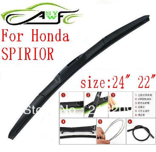 Limpiaparabrisas de coche envío gratis para Honda SPIRIOR tipo gancho brazo de limpiaparabrisas de goma suave hoja de limpiaparabrisas 2 unids/par