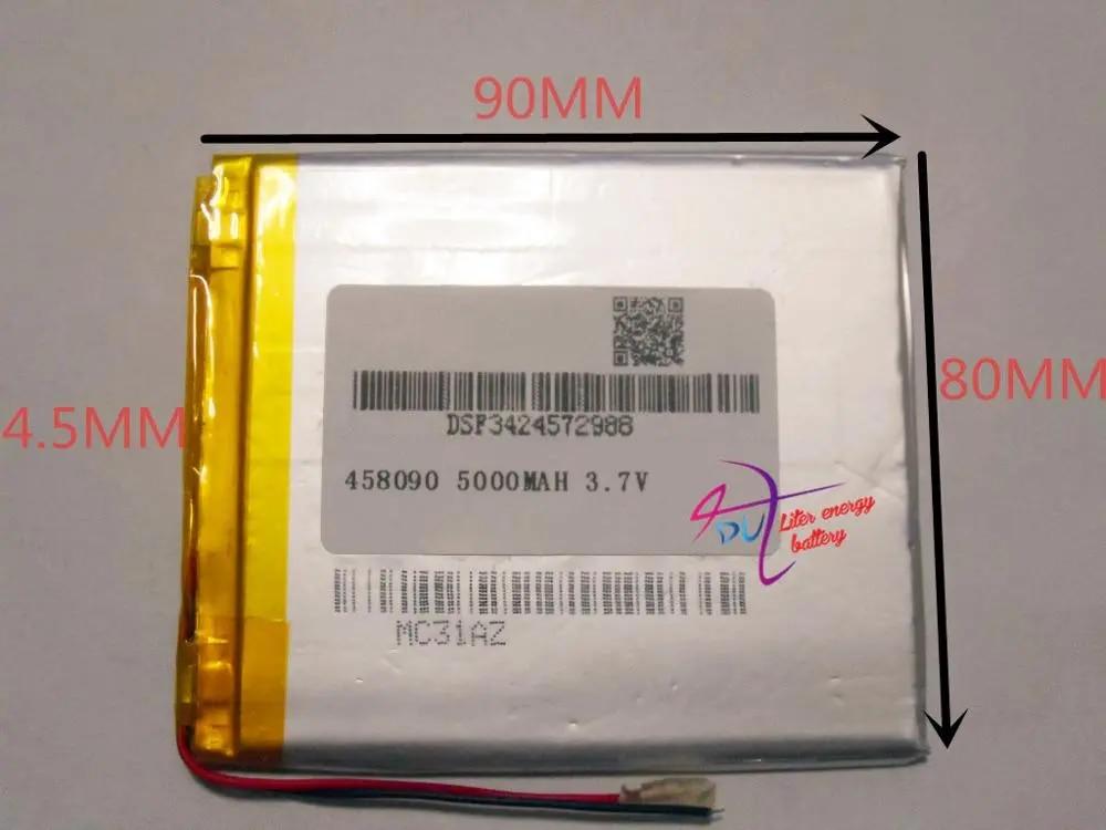 Migliore batteria di Formato di marca 458090 3.7 V 5000 mah ai polimeri di Litio Batteria con il Bordo di Protezione Per 7 pollici Tablet PC