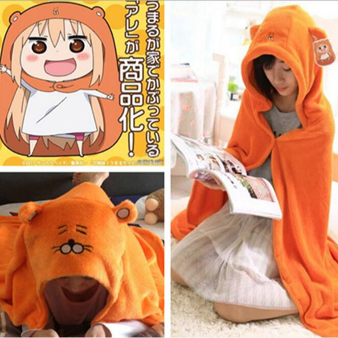 Himouto! Umaru-chan Cloak Anime Umaru chan Doma Umaru Cosplay Costume Flannel Cloaks Blanket Soft Cape Hoodie himouto umaru chan japan anime led watch waterproof touch screen women wrist watches comics cartoon christmas gift