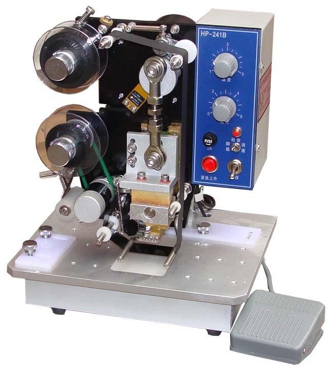 آلة طباعة تاريخ المنتج الجديد ، طباعة الرقائق الساخنة للأكياس البلاستيكية