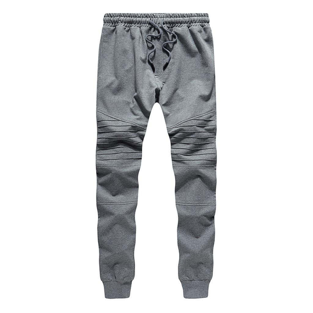 Erkek çok cep eşofman altı Patchwork kat Joggers erkekler eşofman altları Streetwear cep spor pantolon spor ev pantolon